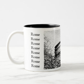 Roman Coliseum, Rome Italy Two-Tone Coffee Mug