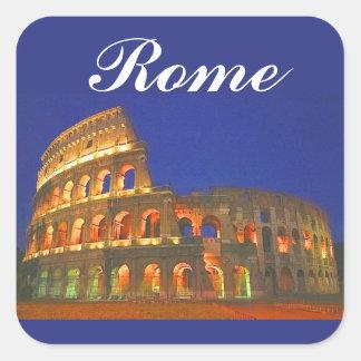 Roman Coliseum Square Sticker