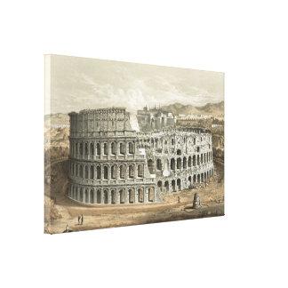 Roman Coliseum Vintage Art Gallery Wrap Canvas