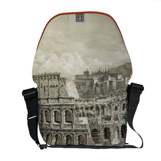 Roman Coliseum Vintage Art Courier Bag
