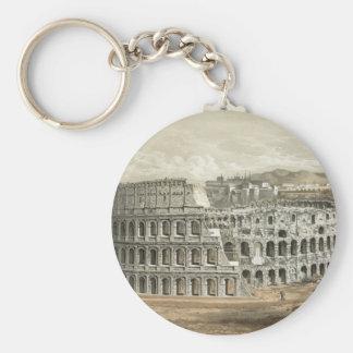 Roman Coliseum Vintage Art Keychains