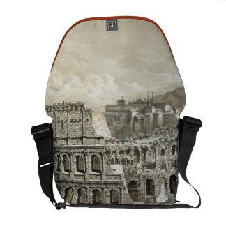 Roman Coliseum Vintage Art Messenger Bags