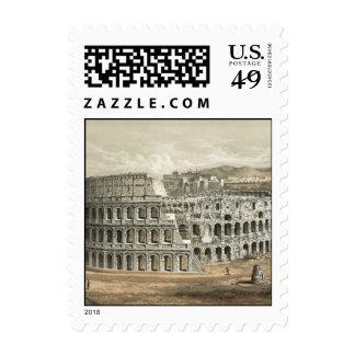 Roman Coliseum Vintage Art Stamp