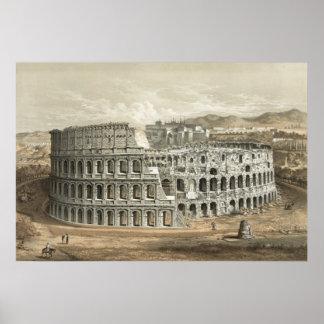 Roman Coliseum Vintage Art Print