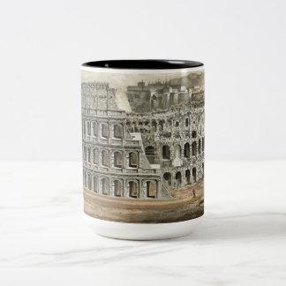 Roman Coliseum Vintage Art Two-Tone Coffee Mug