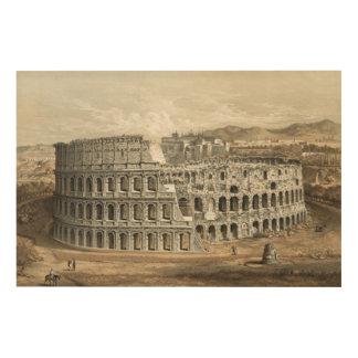 Roman Coliseum Wood Print