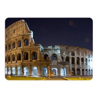 Roman Colosseum at Night Card