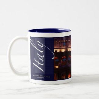 Roman Colosseum at Night Two-Tone Coffee Mug
