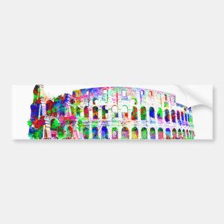 Roman Colosseum colorful architectural products Car Bumper Sticker