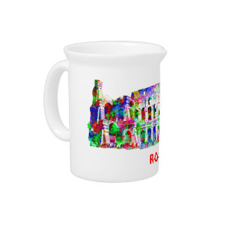 Roman Colosseum colorful architectural products Drink Pitcher