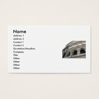 Roman Colosseum Colosseum Business Card