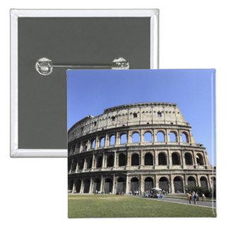 Roman Colosseum Lazio, Italy Button