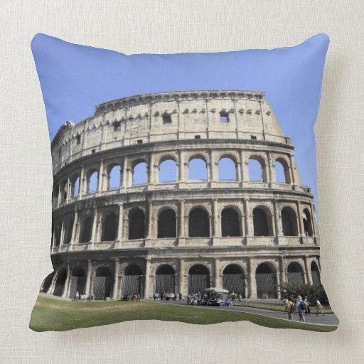 Roman Colosseum Lazio, Italy Pillows