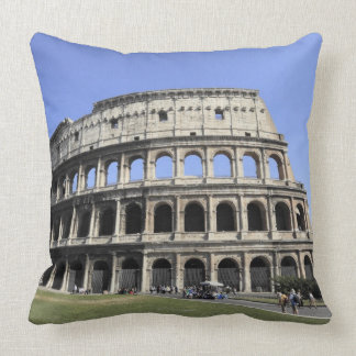 Roman Colosseum Lazio, Italy Throw Pillows
