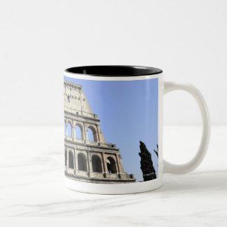 Roman Colosseum Lazio, Italy Two-Tone Coffee Mug