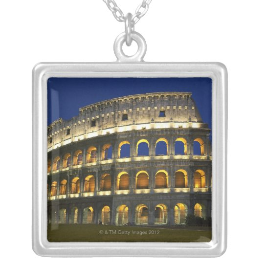 Roman Colosseum, Rome, Italy 3 Silver Plated Necklace