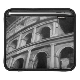 Roman Colosseum with Architectural Drawings iPad Sleeve