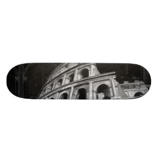Roman Colosseum with Architectural Drawings Skate Deck