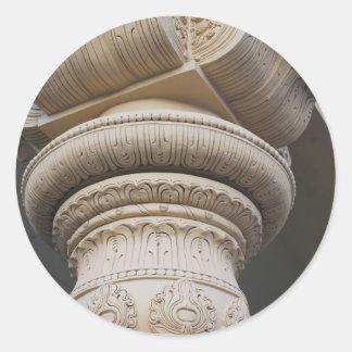 Roman Column Architecture Round Sticker
