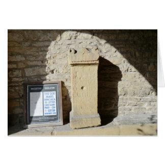 Roman Column at Haddon Hall, Derbyshire Greeting Card