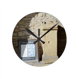 Roman Column at Haddon Hall, Derbyshire Round Clock