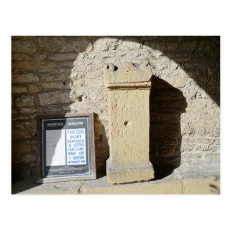 Roman Column at Haddon Hall, Derbyshire Postcard