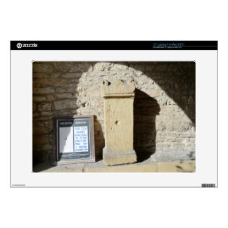 "Roman Column at Haddon Hall Derbyshire 15"" Laptop Skin"
