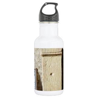 Roman Column at Haddon Hall, Derbyshire Water Bottle