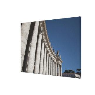 Roman columns canvas print