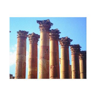 Roman Columns Cluster Canvas Print