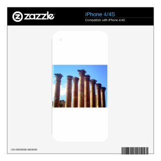 Roman Columns Cluster Decal For iPhone 4