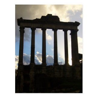 roman columns postcard