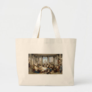 roman decadence large tote bag