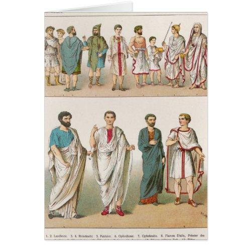 Roman Dress from Trachten der Voelker 1864