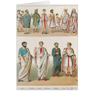 Roman Dress, from 'Trachten der Voelker', 1864 Card