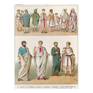 Roman Dress, from 'Trachten der Voelker', 1864 Postcard