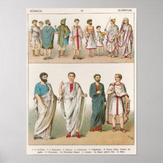 Roman Dress, from 'Trachten der Voelker', 1864 Poster