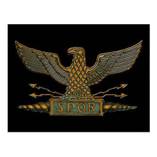 Roman Eagle Copper Finish Postcard