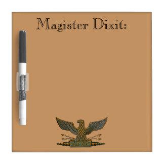 Roman Eagle Magister Dixit Dry Erase Board