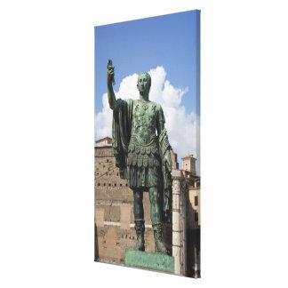 Roman Emperor statue Canvas Print