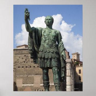 Roman Emperor statue Poster