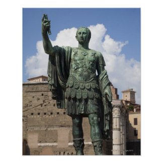 Roman Emperor statue Posters