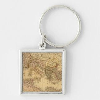 Roman Empire 2 Silver-Colored Square Keychain