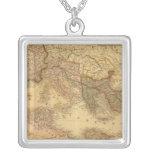 Roman Empire 2 Square Pendant Necklace