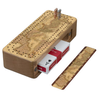 Roman Empire 2 Wood Cribbage Board