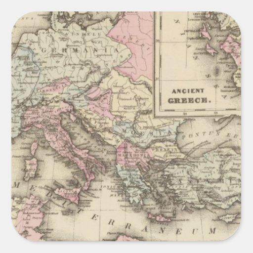 Roman Empire, Greece Square Sticker