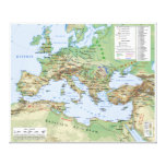 Roman Empire Map During Reign of Emperor Hadrian Gallery Wrapped Canvas
