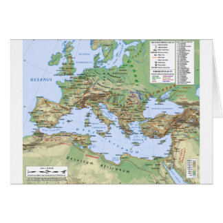 Roman Empire Map During Reign of Emperor Hadrian Greeting Card