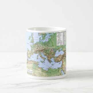 Roman Empire Map During Reign of Emperor Hadrian Coffee Mug