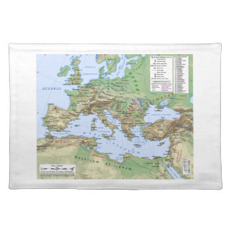 Roman Empire Map During Reign of Emperor Hadrian Placemat